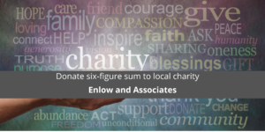 Enlow and Associates donate six-figure sum to local charity